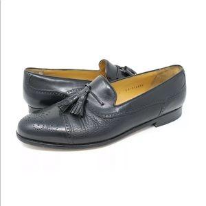 Mezlan Havana Men's Cap Toe Tassel Loafers Sz 10.5